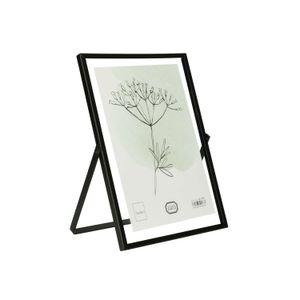 Bilderrahmen, Metall, schwarz, 13 x 18 cm