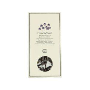 Blauwe bessen in pure chocolade, 100 gram