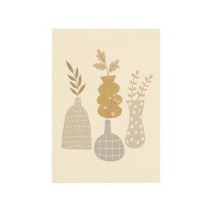 Bloc-notes, motif de vases, A5