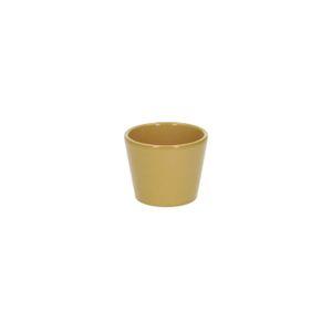 Bloempot, aardewerk, geel, Ø 7 cm