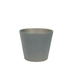 Bloempot, aardewerk, mat grijs, Ø 15,5 cm