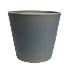 Bloempot, aardewerk, mat grijs,  Ø 24 cm