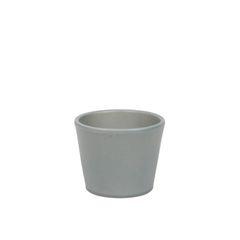 Bloempot, aardewerk, mat grijs,  Ø 7 cm