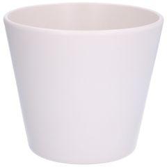 Bloempot, aardewerk, mat wit, Ø 17,5 cm