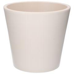 Bloempot, aardewerk, mat wit, Ø 24 cm