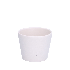 Bloempot, aardewerk, mat wit, Ø 7,8 cm