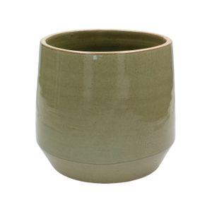 Bloempot, steengoed, groen, Ø 21 cm