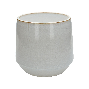 Bloempot, steengoed, wit, Ø 21 cm
