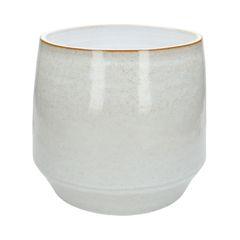 Bloempot, steengoed, wit, Ø 26 cm