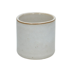 Bloempot, steengoed, wit, Ø 7 cm