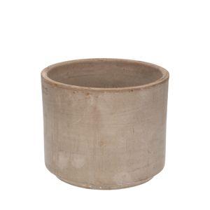 Bloempot, terracotta, grijs, Ø 16 cm