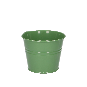 Bloempot, zink, groen, Ø 11 cm