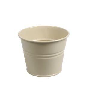 Bloempot, zink, licht grijs/groen, Ø 11 cm