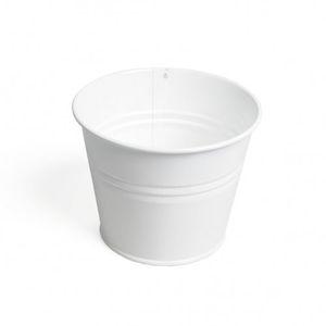 Bloempot, zink, wit, Ø 14 cm