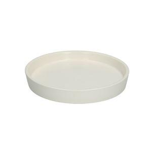 Bloempotschotel, aardewerk, mat wit, Ø 13,5 cm