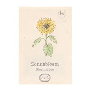 Bloemzaden, biologisch, zonnebloem