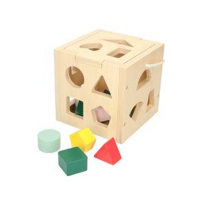 Blokkenstoof, hout, 12m+
