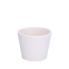 Blumentopf, Steingut, mattweiß, Ø 7,8 cm