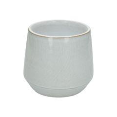 Blumenübertopf, Steingut mit reaktiver Glasur, weiß, Ø 15 cm