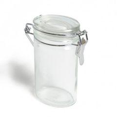 Bocal à fermeture mécanique, verre, oval, 100 ml