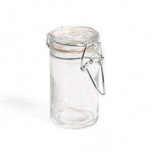 Bocal en verre, rond, 90 ml