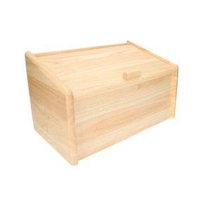 Boîte à pain, bois d'hévéa, 39 x 22 x 23 cm