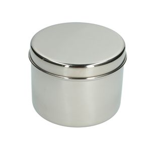 Boîte à provision, inox, Ø 12,5 cm