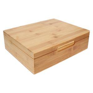 Boîte à thé, 12 compartiments, bambou