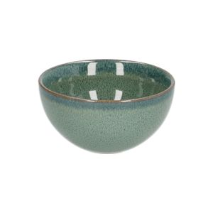 Bol, émail reactif, grès, vert, Ø 9,5 cm