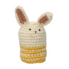 Bonnet d'œuf, lapin, laine, jaune