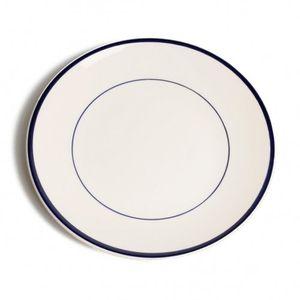 Bord diner 'Rand', aardewerk, donkerblauw, Ø 27 cm