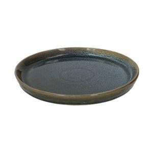 Bord reactieve glazuur, steengoed, blauw, Ø 20,5 cm