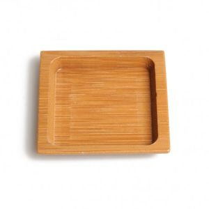 Bordje, bamboe, 6 x 6 cm