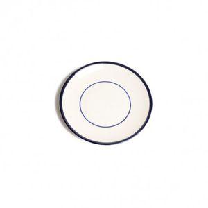Bordje gebak 'Rand', aardewerk, donkerblauw, Ø 15,5 cm