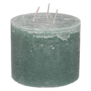 Bougie bloc, vert eucalyptus, 12 x 10 cm