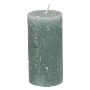 Bougie bloc, vert eucalyptus, 6 x 12 cm
