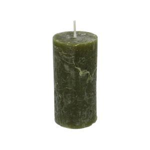 Bougie bloc, vert forêt, 6 x 12 cm