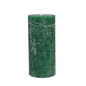 Bougie bloc, vert jungle, 7 x 15 cm