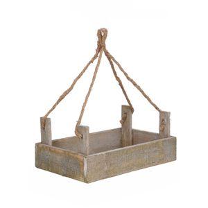 Cagette mangeoire, bois, 25 x 15 cm