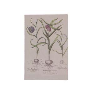 Cahier bullet journal, fleur de vanneau, 21 x 14 cm