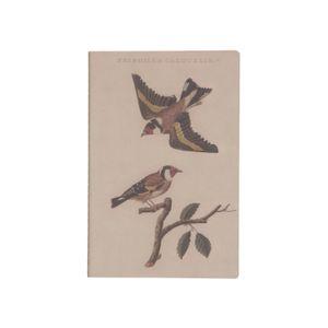 Cahier, chardonnerets, 21 x 14 cm