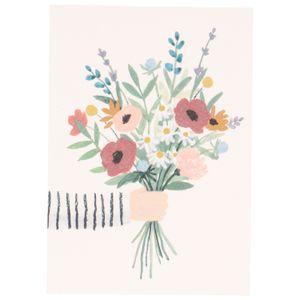 Carte, bouquet de fleurs