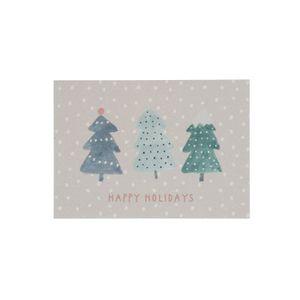 Carte de Noël, sapins