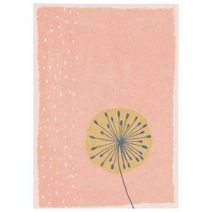 Carte, papier végétal, pissenlit, 14,8 x 10,5 cm