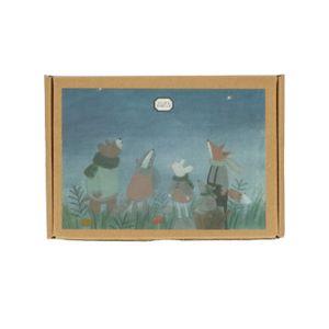 Cartes de Noël avec enveloppe, les animaux de la forêt, boîte de 10