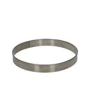 Cercle à pâtisserie, rond, inox, Ø 16,5 cm