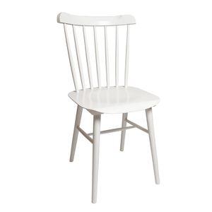 Chaise 35, hêtre, massif laqué blanc