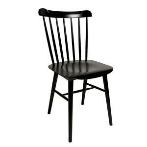 Chaise 35, hêtre, massif laqué noir
