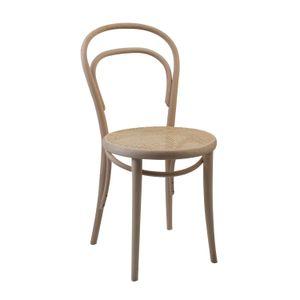 Chaise n° 14, hêtre, non traité, assise cannée