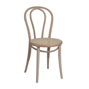 Chaise n° 18, hêtre, non traité, assise cannée